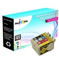 Epson 126 Black & 3 Color Ink Cartridges Set - Remanufactured