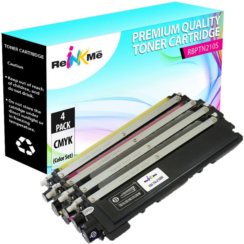 Brother TN-210 C/M/Y/K Compatible Toner Cartridge Set