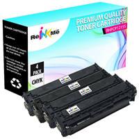 HP 125A Black & Color Compatible Toner Cartridge Set